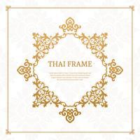 Vector de marco temático tailandés decorativo