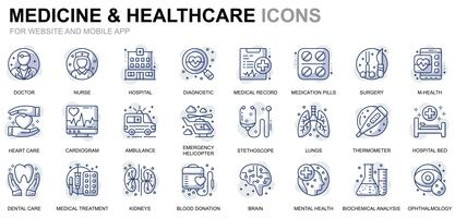 Healthcare and Medicine Line Icons