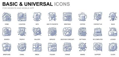 Basic and Universal Line Icons