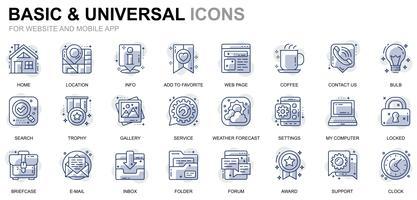 Grundlegende und universelle Liniensymbole