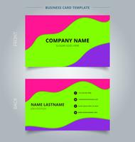 Trendy fluid business card with vivid colors vector