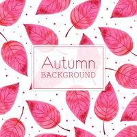 Rosa Blatt-schöner Aquarell Autumn Leaves Background