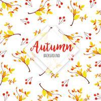 Orangen- und Gelb-Blätter auf Niederlassung schöner Aquarell Autumn Leaves Background