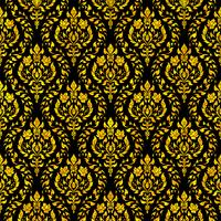 Thai floral motif seamless background