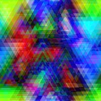 Polígono de triângulo colorido