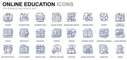 Education and Knowledge Line Icons