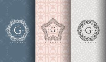 Set of luxury pastel package templates