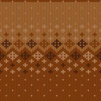 Geometric knitted pattern with repeating snowflakes