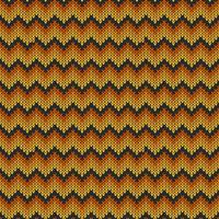 Geometric knitted chevron pattern