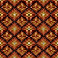 Geometric diamond knitted pattern
