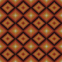 Patrón de punto geométrico de diamantes