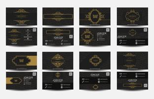Set of business card Luxury