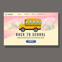 education landing page with student school bus