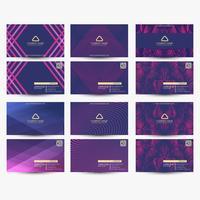 Cartes de visite violettes