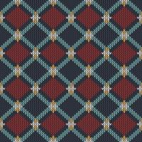 Geometric ethnic knitted pattern