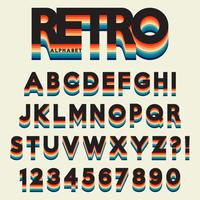 Letter alphabet stylized retro style vector