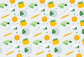 Dibujado a mano finanzas dinero patrón de fondo