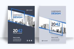 Vertical City Background Business Book Cover Design Template