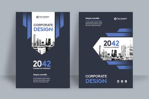 Royal Blue City Background Business Book Cover Design Template