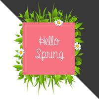 Fond de printemps coloré floral bonjour