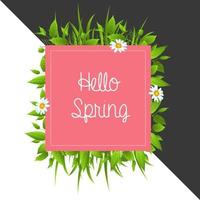 Colorful Floral Hello Spring Background