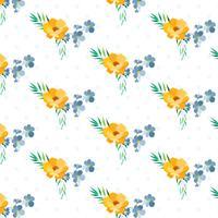 Polka Dot Layered motif floral