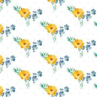 Polka Dot Layered Design padrão floral