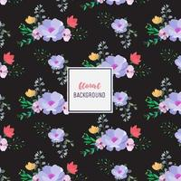 Dark Floral pattern design