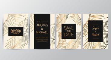 Premium Tan lyxiga bröllopinbjudningskort