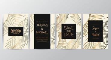 Premium Tan luxury wedding invitation cards