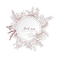 Winter Floral frame design