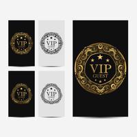 Cartão VIP premium de luxo