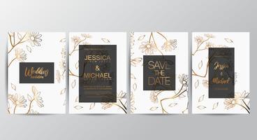 Premium luxury Floral wedding invitation set