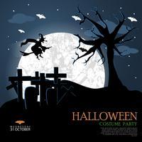 Modèle de nuit d'Halloween