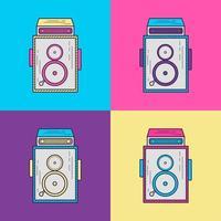 Camera Vintage jaren 90 stijl vector
