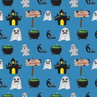 Halloween Seamless Ghost Pattern
