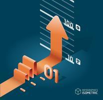 infographic isometric arrow diagram chart