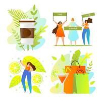 Journée de shopping estivale colorée