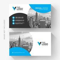 Elegant blue black corporate card vector