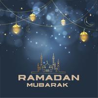 Religiöser islamischer Ramadan Mubarak Greeting