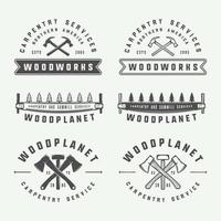Vintage carpentry woodwork labels