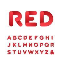 Alfabeto di carattere arrotondato con effetto sfumato