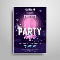 Plantilla de póster de fiesta espacial
