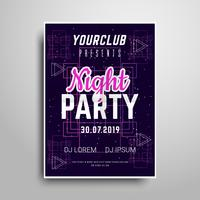 Night party vertical flyer sample