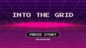 Into the Grid Retro Background