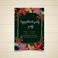 Happy Thanksgiving Party poster design