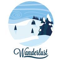 wanderlust snowscape scen
