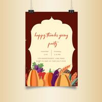 Thanksgiving Party Vegetable  poster design
