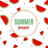 Watermeloen achtergrondontwerp
