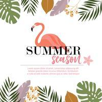 Flamingo Summer card design